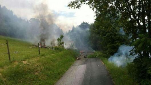 Niemcy - W pobliżu Olsberg zderzyły się dwa samoloty, myśliwiec Eurofighter i mały samolot Learjet 2