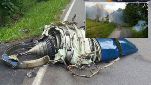 Niemcy - W pobliżu Olsberg zderzyły się dwa samoloty, myśliwiec Eurofighter i mały samolot Learjet