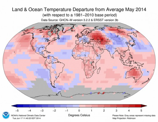 Rekordowo ciepły maj 2014 r