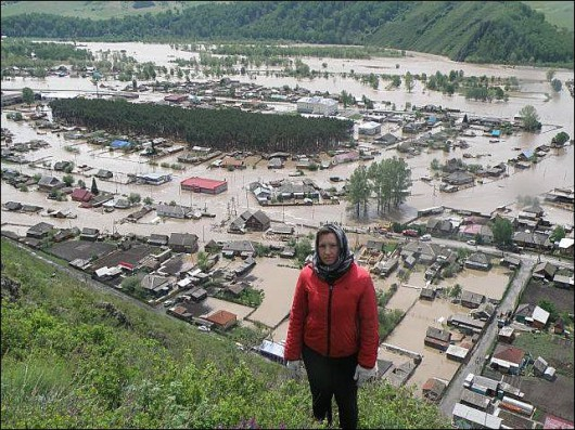 Rosja - Powódź na zachodzie Syebrii 1