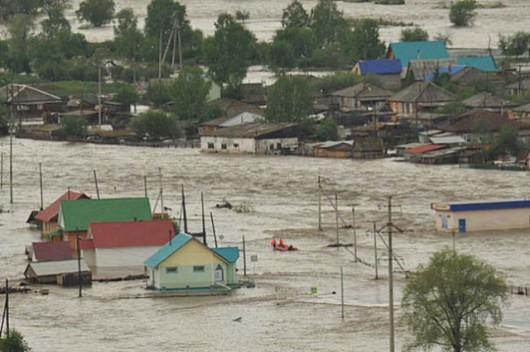 Rosja - Powódź na zachodzie Syebrii 3
