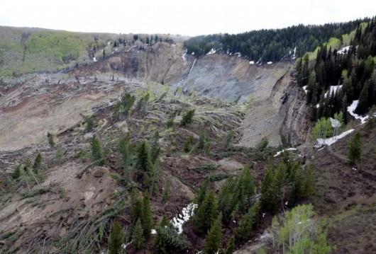 USA - Kolejne ogromne osuwisko w Kolorado, 5 km długie i 1.5 km szerokie 1