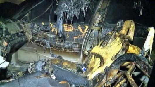 USA - Piorun uderzył w samochód, wnętrze zostało spalone 3