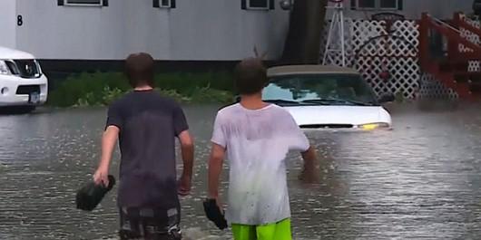 USA - Rekordowe ulewy w Minnesocie, tak mokro nie było od 140 lat, Missisipi podtapia Minneapolis 5