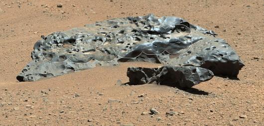 Żelazny meteoryt na Marsie