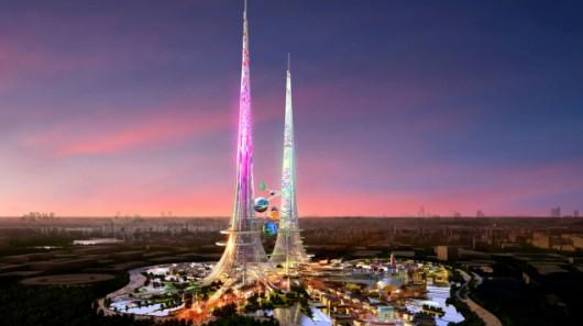 Wizualizacja ekologicznych wież