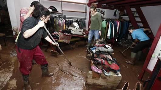Hiszpania - Powódź po ulewnych deszczach