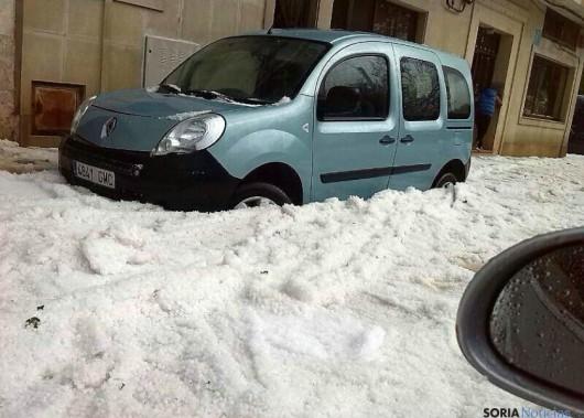 Hiszpania - Zimowy krajobraz latem, gradobicie w Almazan 4