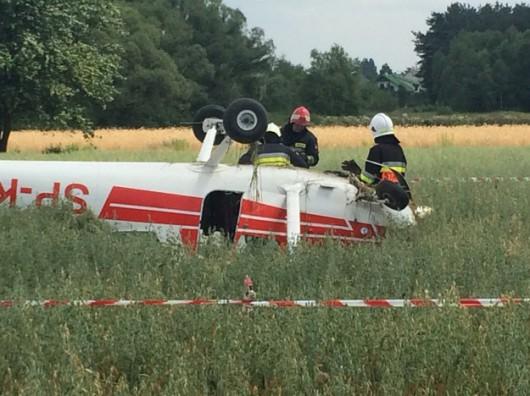Jeden z samolotów, które zderzyły się koło Radomia