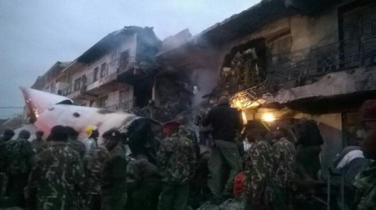 Kenia - Samolot towarowy uderzył w biurowiec w Nairobi 1