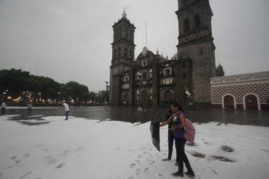 Meksyk - Gradobicie w Puebla 5