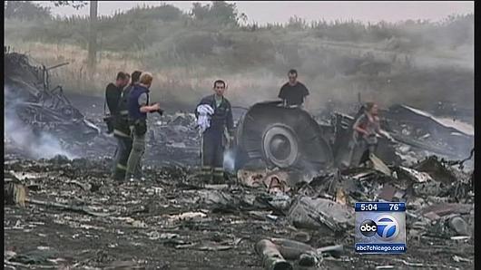 Nad Ukrainą rozbił się Boeing 777 malezyjskich linii lotniczych 5