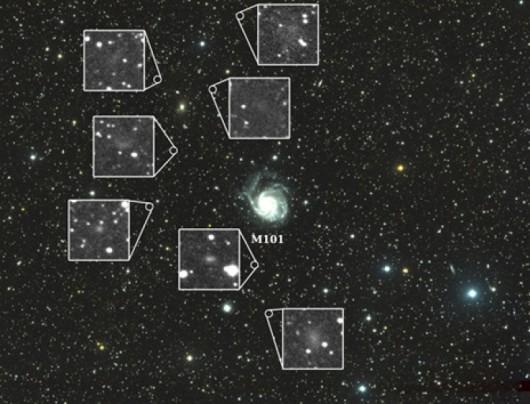 Obiekty odkryte za pomocą teleskopu Dragonfly