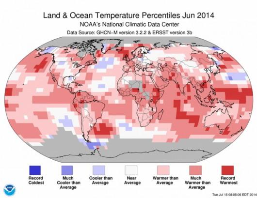 Rekordy ciepła - Czerwiec 2014 r.