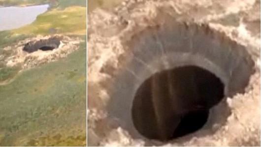 Rosja - Ogromny krater na Syberii 2
