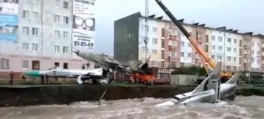 Rosja - Rzeka porwała dwa rosyjskie Su-15 3