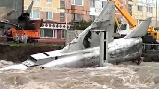 Rosja - Rzeka porwała dwa rosyjskie Su-15 4