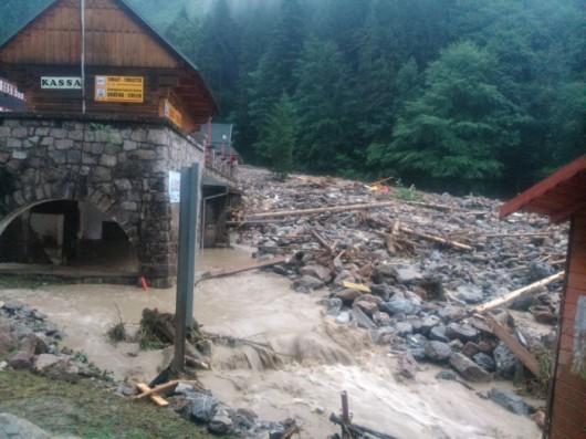 Słowacja - Powódź zniszczyła Dolinę Vratna 1