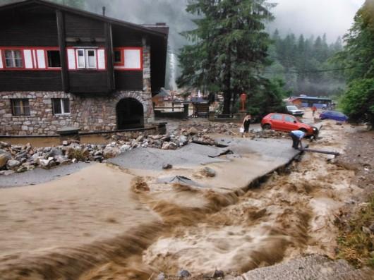 Słowacja - Powódź zniszczyła Dolinę Vratna 14