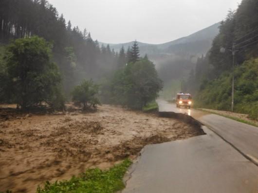 Słowacja - Powódź zniszczyła Dolinę Vratna 16