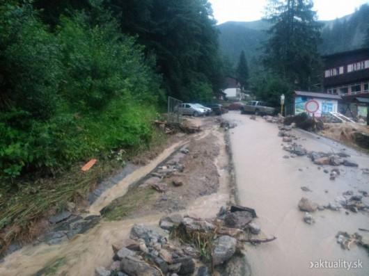Słowacja - Powódź zniszczyła Dolinę Vratna 6