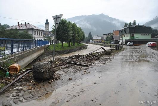 Słowacja - Powódź zniszczyła Dolinę Vratna 7