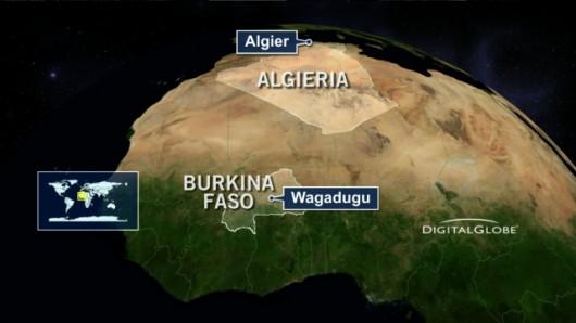 Samolot leciał z Burkina Faso do Algierii Źródło: Digitalglobe/TVN 24
