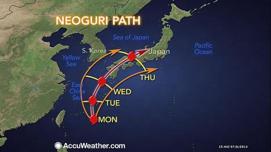 Tajfun Neoguri - Japonia
