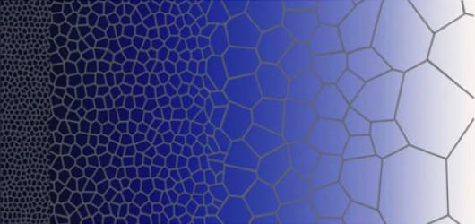 W ulepszonej stali rozmiary tworzących ją cząstek zwiększają się stopniowo od zewnątrz do środka