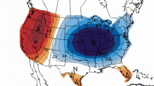 Wir polarny i duże ochłodzenie nad USA