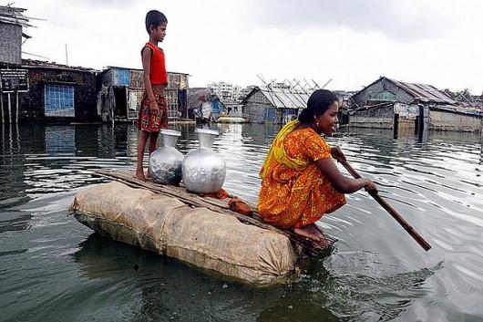 Bangladesz - Powódź 1