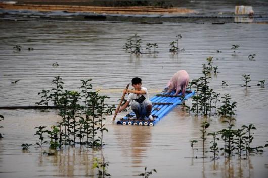 Chiny - Powódź