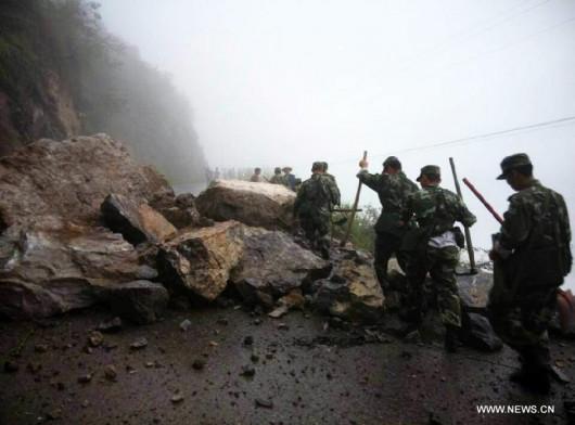 Chiny - Trzęsienie ziemi w prowincji Yunnan, magnituda 5.0, spore zniszczenia 2