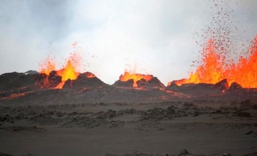 Islandia - Erupcja wulkanu Bárðarbunga