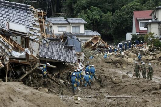 Japonia - Co najmniej 36 ofiar lawiny błotnej 1
