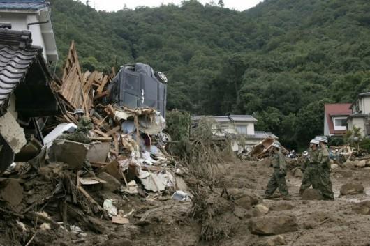 Japonia - Co najmniej 36 ofiar lawiny błotnej 2