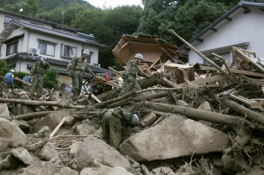 Japonia - Co najmniej 36 ofiar lawiny błotnej 5