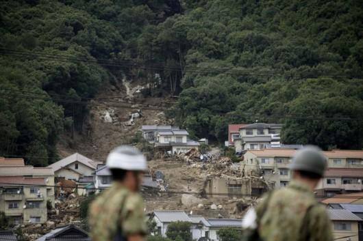 Japonia - Co najmniej 36 ofiar lawiny błotnej 6