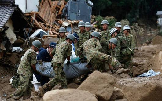 Japonia - Do 50 osób wzrosła liczba ofiar osuwiska ziemi w Hiroszimie, zaginionych jest 38 osób 2