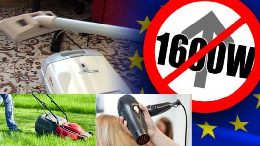 Od 1 września w całej UE nie można produkować odkurzaczy, których moc przekracza 1600 W