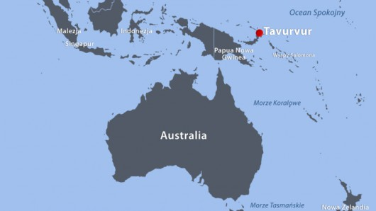 Papua-Nowa Gwinea - Potężna erupcja wulkanu Tavurvur