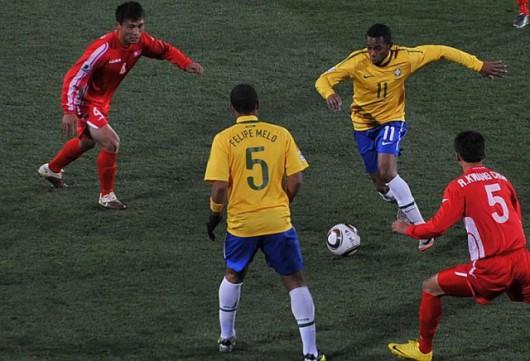 Podczas mundialu w czerwcu 2010 roku Korea Północna przegrała z Brazylią 1:2