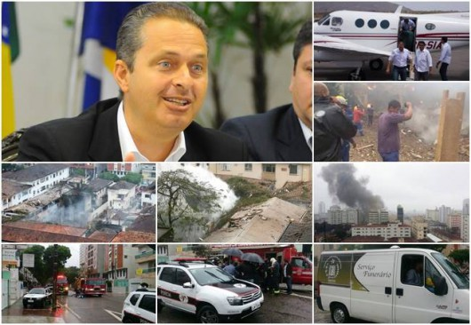 Santos, Brazylia - Katastrofa samolotu z kandydatem na prezydenta