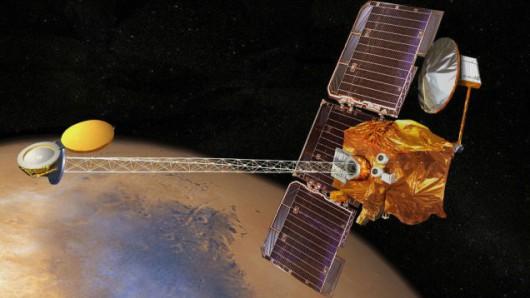 Wizualizacja artystyczna sondy Mars Odyssey