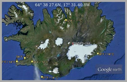 Wulkan Bárðarbunga - Islandia