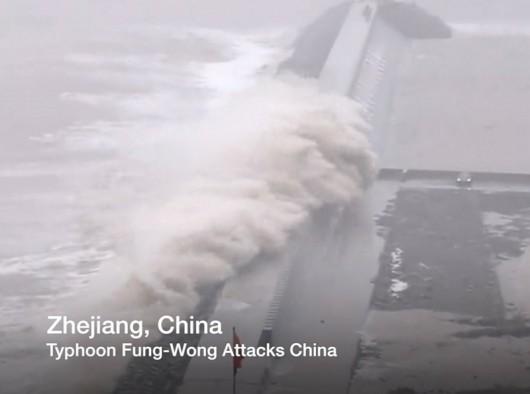 Chiny - Tajfun Fung-Wong przyniósł opady rzędu 161 l na mkw 1