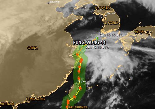 Chiny - Tajfun Fung-Wong przyniósł opady rzędu 161 l na mkw 2