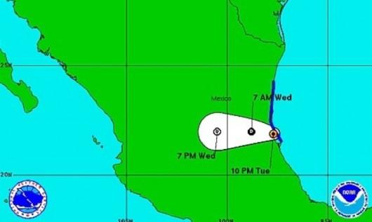 Dolly u wybrzeży Meksyku. Władze szykują się na atak tropikalnego sztormu