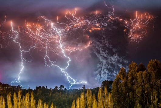 Erupcja wulkanu Caulle w Chile