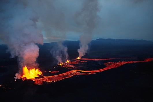 Islandia - Erupacja wulkanu 2